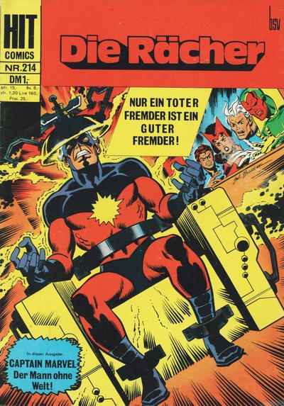 Cover for Hit Comics Die Rächer (BSV - Williams, 1971 series) #214