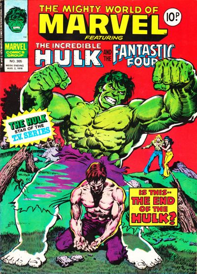 Cover for The Mighty World of Marvel (Marvel UK, 1972 series) #305