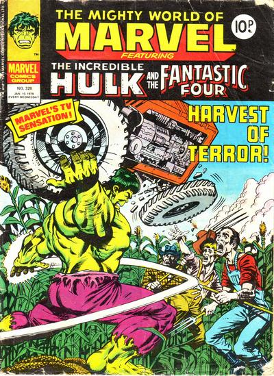 Cover for The Mighty World of Marvel (Marvel UK, 1972 series) #328