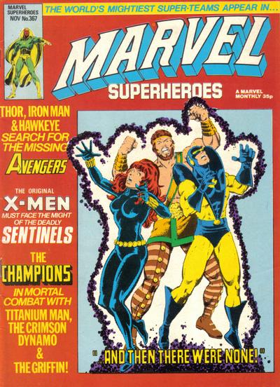 Cover for Marvel Superheroes [Marvel Super-Heroes] (Marvel UK, 1979 series) #367