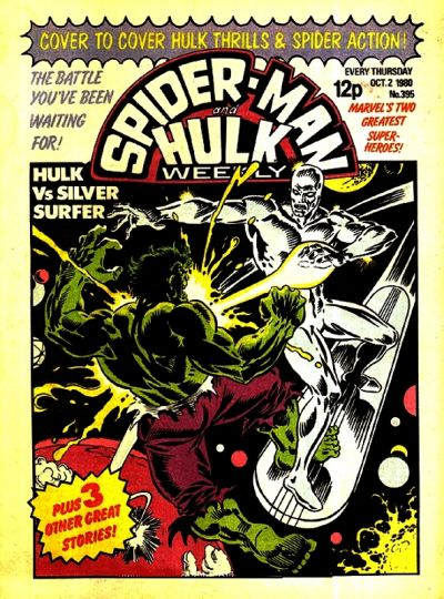 Cover for Spider-Man and Hulk Weekly (Marvel UK, 1980 series) #395