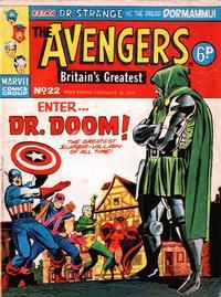 Cover Thumbnail for The Avengers (Marvel UK, 1973 series) #22