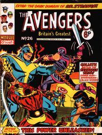 Cover Thumbnail for The Avengers (Marvel UK, 1973 series) #26