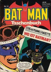 Cover Thumbnail for Batman Taschenbuch (Egmont Ehapa, 1978 series) #14