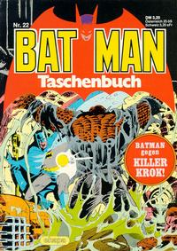 Cover Thumbnail for Batman Taschenbuch (Egmont Ehapa, 1978 series) #22