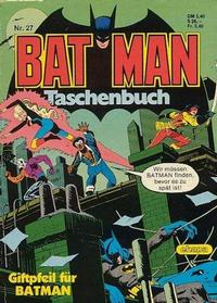 Cover Thumbnail for Batman Taschenbuch (Egmont Ehapa, 1978 series) #27