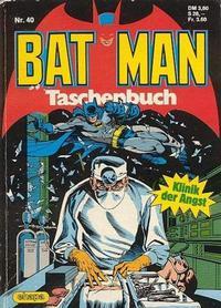 Cover Thumbnail for Batman Taschenbuch (Egmont Ehapa, 1978 series) #40