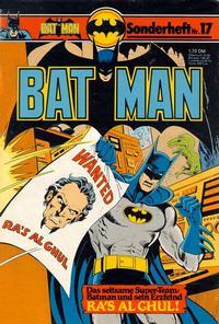 Cover Thumbnail for Batman Sonderheft (Egmont Ehapa, 1976 series) #17