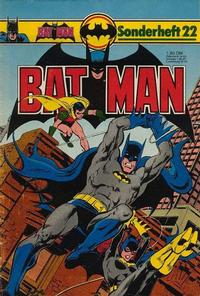 Cover Thumbnail for Batman Sonderheft (Egmont Ehapa, 1976 series) #22