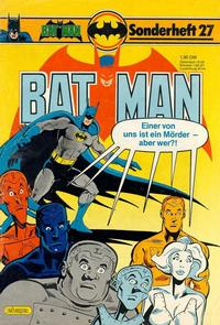 Cover Thumbnail for Batman Sonderheft (Egmont Ehapa, 1976 series) #27