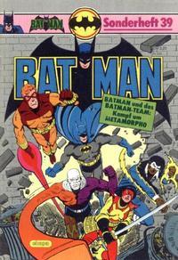 Cover Thumbnail for Batman Sonderheft (Egmont Ehapa, 1976 series) #39