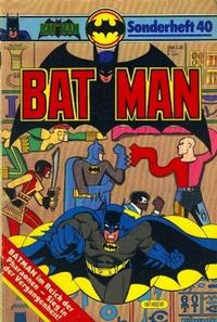 Cover Thumbnail for Batman Sonderheft (Egmont Ehapa, 1976 series) #40