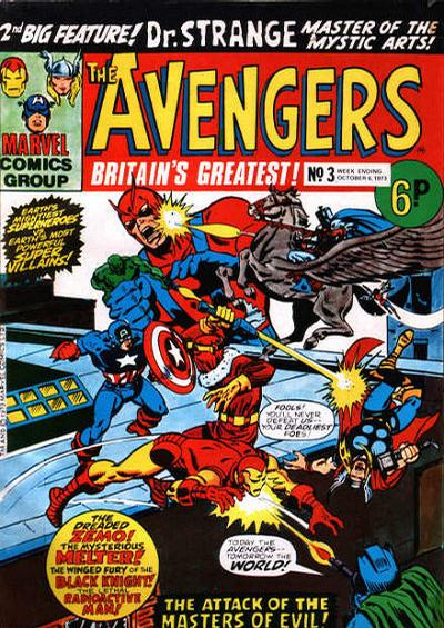 Cover for The Avengers (Marvel UK, 1973 series) #3