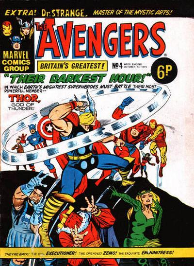 Cover for The Avengers (Marvel UK, 1973 series) #4