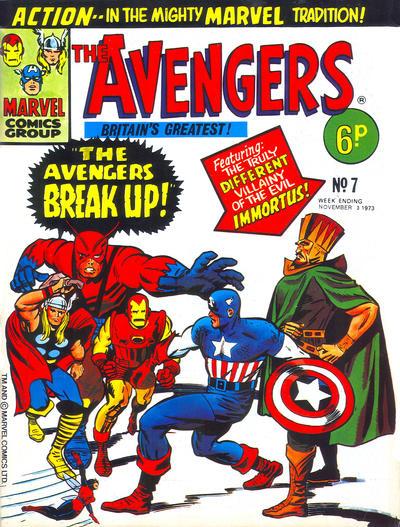 Cover for The Avengers (Marvel UK, 1973 series) #7