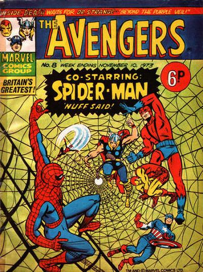 Cover for The Avengers (Marvel UK, 1973 series) #8