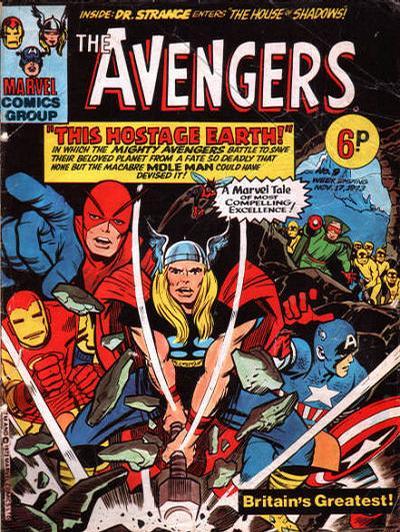 Cover for The Avengers (Marvel UK, 1973 series) #9