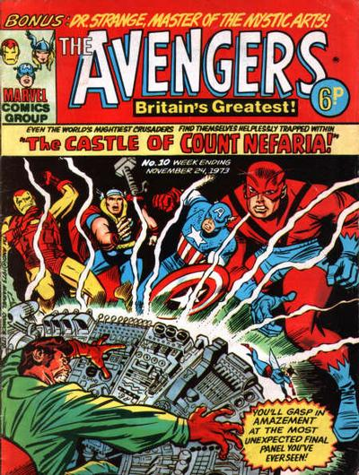 Cover for The Avengers (Marvel UK, 1973 series) #10
