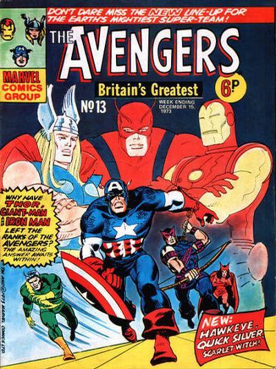 Cover for The Avengers (Marvel UK, 1973 series) #13