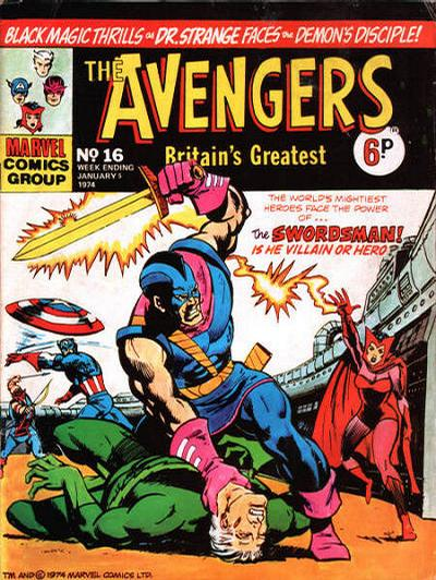 Cover for The Avengers (Marvel UK, 1973 series) #16