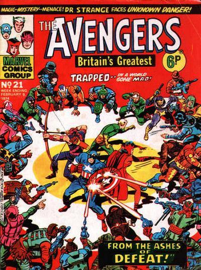 Cover for The Avengers (Marvel UK, 1973 series) #21