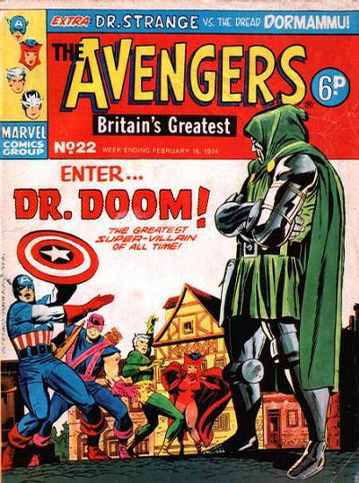 Cover for The Avengers (Marvel UK, 1973 series) #22