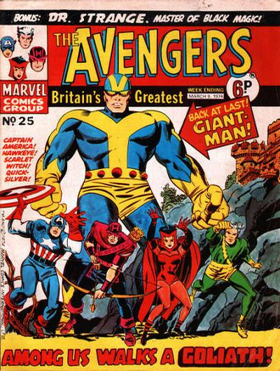 Cover for The Avengers (Marvel UK, 1973 series) #25