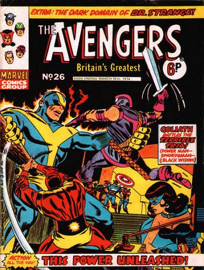 Cover for The Avengers (Marvel UK, 1973 series) #26