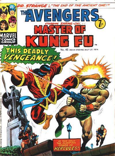 Cover for The Avengers (Marvel UK, 1973 series) #45