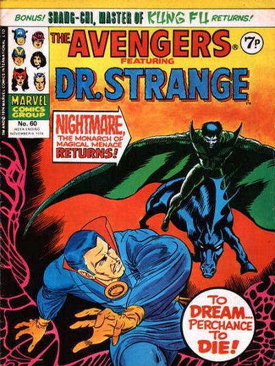 Cover for The Avengers (Marvel UK, 1973 series) #60