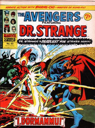 Cover for The Avengers (Marvel UK, 1973 series) #63