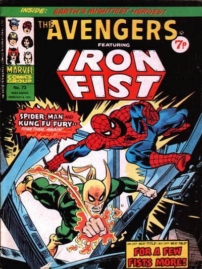 Cover for The Avengers (Marvel UK, 1973 series) #73