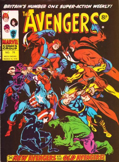 Cover for The Avengers (Marvel UK, 1973 series) #78