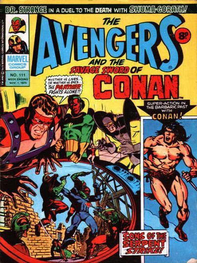 Cover for The Avengers (Marvel UK, 1973 series) #111