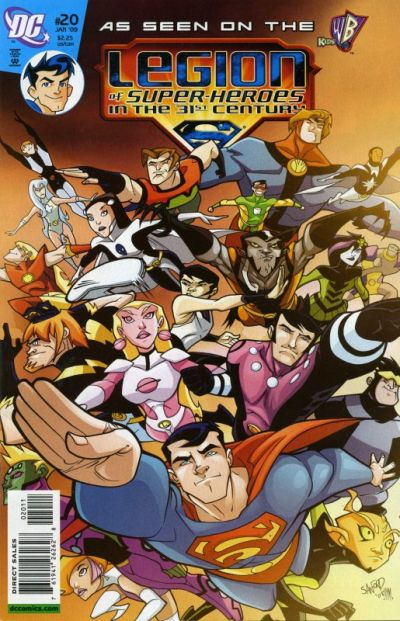 Cover for The Legion of Super-Heroes in the 31st Century (DC, 2007 series) #20 [Direct Sales]