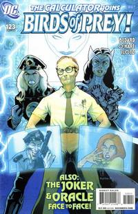 Cover Thumbnail for Birds of Prey (DC, 1999 series) #123