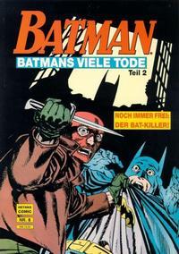 Cover Thumbnail for Batman Album (Norbert Hethke Verlag, 1989 series) #8 - Batmans viele Tode, Teil 2