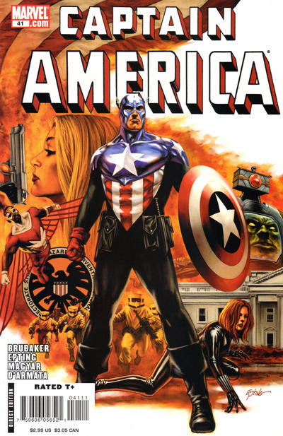 Cover for Captain America (Marvel, 2005 series) #41 [Direct Edition]
