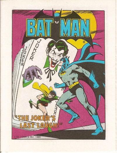 Cover for Batman [Post Super Heroes Mini-Comic] (DC, 1980 series) #[nn]