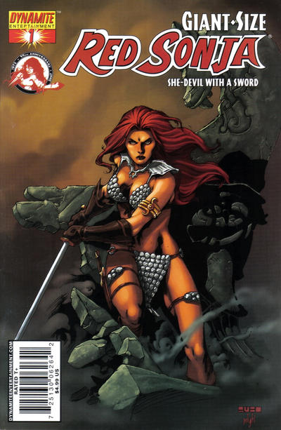 Cover for Giant-Size Red Sonja (Dynamite Entertainment, 2007 series) #1 [Howard Chaykin Cover]
