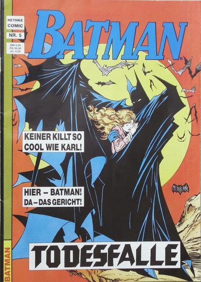 Cover for Batman (Norbert Hethke Verlag, 1989 series) #5