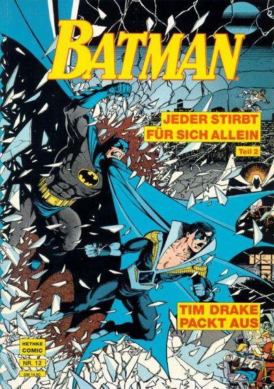 Cover for Batman Album (Norbert Hethke Verlag, 1989 series) #12 - Jeder stirbt für sich allein, Teil 2