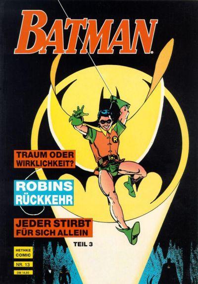 Cover for Batman Album (Norbert Hethke Verlag, 1989 series) #13 - Jeder stirbt für sich allein, Teil 3