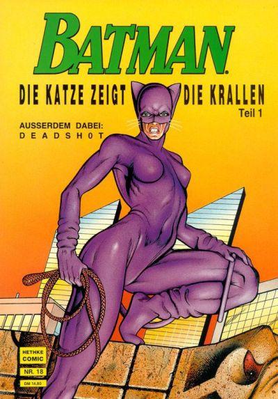 Cover for Batman Album (Norbert Hethke Verlag, 1989 series) #18 - Die Katze zeigt die Krallen, Teil 1