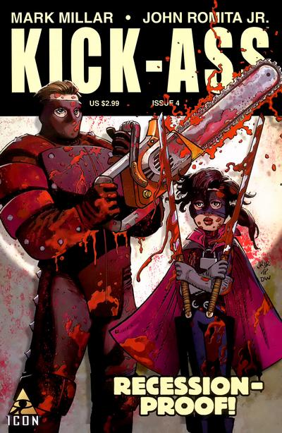 Cover for Kick-Ass (Marvel, 2008 series) #4 [Second Printing Variant]