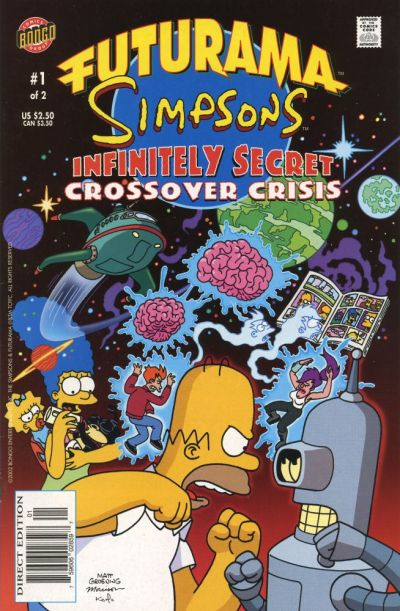 Cover for Futurama Simpsons Infinitely Secret Crossover Crisis (Bongo, 2002 series) #1