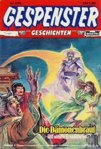 Cover Thumbnail for Gespenster Geschichten (Bastei Verlag, 1974 series) #499