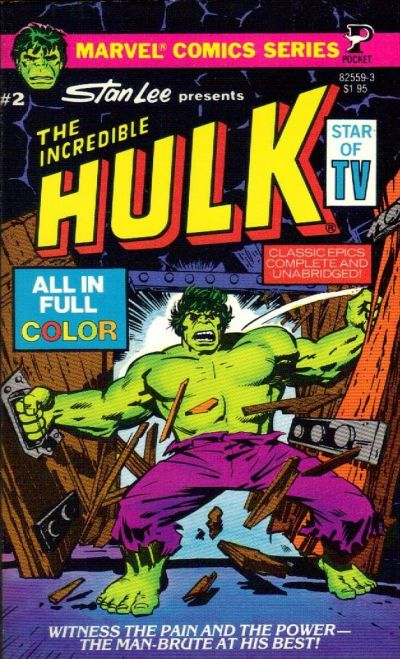 Cover for The Incredible Hulk (Pocket Books, 1978 series) #2 (82559-3)