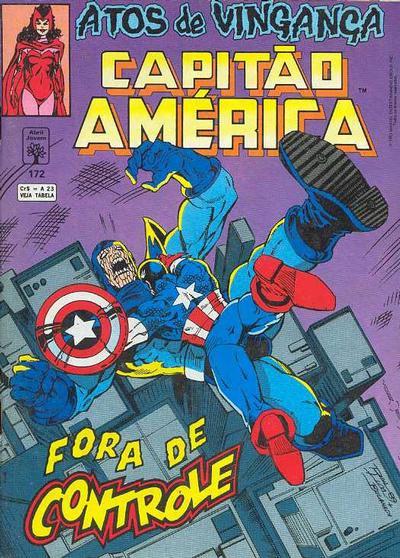 Cover for Capitão América (Editora Abril, 1979 series) #172