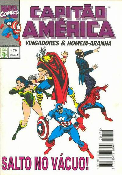 Cover for Capitão América (Editora Abril, 1979 series) #176
